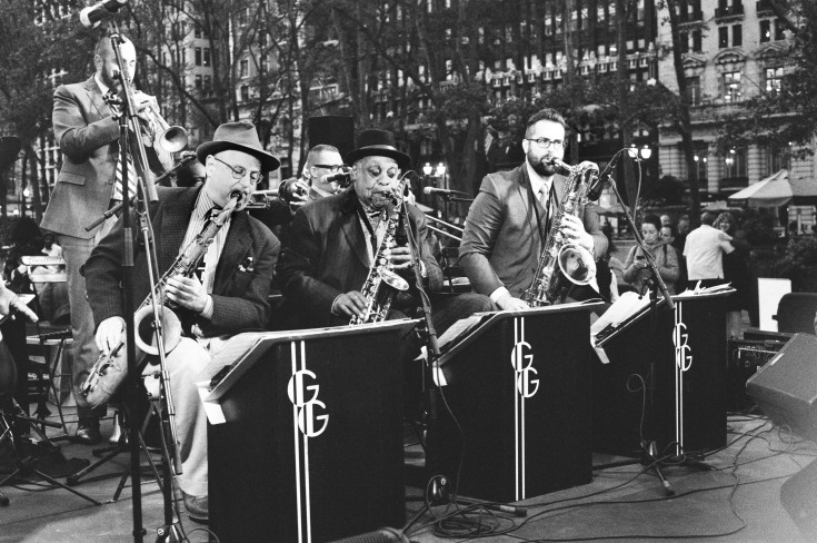 jazz band in bryant park